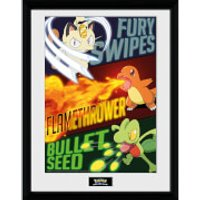 Pokemon Moves - 16 x 12 Inches Framed Photograph