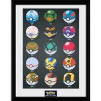 Pokémon Pokéballs - 16 x 12 Inches Framed Photograph