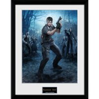 Resident Evil Leon Gun - 16 x 12 Inches Framed Photograph - Gun Gifts