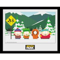 South Park Group - 16 x 12 Inches Framed Photograph - South Park Gifts