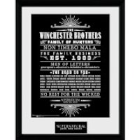 Supernatural Family Business - 16 x 12 Inches Framed Photograph - Business Gifts