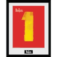 The Beatles No. 1 Red - 16 x 12 Inches Framed Photograph - Beatles Gifts
