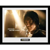 The Walking Dead Daryl Light - 16 x 12 Inches Framed Photograph - The Walking Dead Gifts