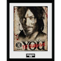 The Walking Dead Daryl Needs You - 16 x 12 Inches Framed Photograph - The Walking Dead Gifts