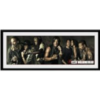 The Walking Dead Survivors - 30 x 12 Inches Framed Photograph - The Walking Dead Gifts