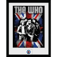The Who Union Jack - 16 x 12 Inches Framed Photograph - Union Jack Gifts