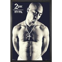 Tupac Cross - 61 x 91.5cm Framed Maxi Poster - Tupac Gifts