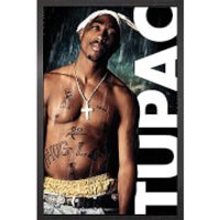 Tupac Rain - 61 x 91.5cm Framed Maxi Poster - Tupac Gifts