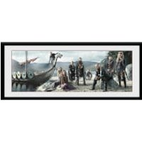 Vikings Beach - 30 x 12 Inches Framed Photograph - Vikings Gifts