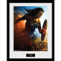 Wonder Woman Run - 16 x 12 Inches Framed Photograph - Wonder Woman Gifts