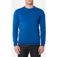 BOSS Green Mens Rime Crew Neck Knitted Jumper - Bright Blue - L - Blue