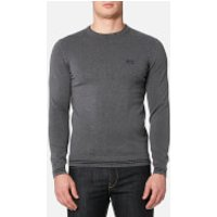 BOSS Green Mens Rime Crew Neck Knitted Jumper - Grey - XL - Grey