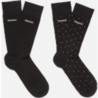 BOSS Hugo Boss Mens 2 Pack Socks Set - Black/Silver
