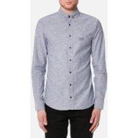 BOSS Orange Mens Epreppy Long Sleeve Shirt - Navy - XXL - Blue