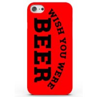 Wish You Were Beer Phone Case for iPhone & Android - 4 Colours - Samsung Galaxy S6 Edge - Red