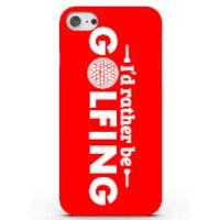I'd Rather Be Golfing Phone Case For Iphone & Android - 4 Colours - Samsung Galaxy S6 Edge - Red