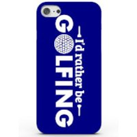 I'd Rather Be Golfing Phone Case For Iphone & Android - 4 Colours - Samsung Galaxy S6 Edge - Blue