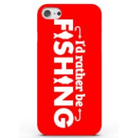 I'd Rather Be Fishing Phone Case For Iphone & Android - 4 Colours - Samsung Galaxy S7 - Red
