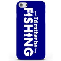 I'd Rather Be Fishing Phone Case For Iphone & Android - 4 Colours - Samsung Galaxy S6 Edge - Blue