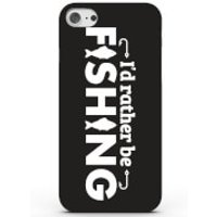 I'd Rather Be Fishing Phone Case For Iphone & Android - 4 Colours - Samsung Galaxy S6 Edge - Black