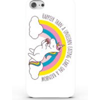 Happier Than a Unicorn Eating Cake On a Rainbow Phone Case for iPhone & Android - 4 Colours - Samsung Galaxy S6 - White - Eating Gifts