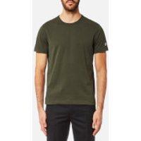 Champion Men's Basic Sleeve Logo Short Sleeve T-Shirt - Khaki - S - Green