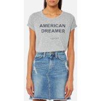 Tommy Hilfiger Womens Short Sleeve Logo T-Shirt - Grey Heather - L - Grey