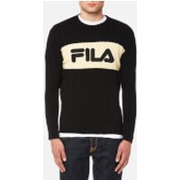 FILA Blackline Men's Rory Texture Crew Neck Knit Jumper - Black - XL - Black