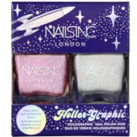Nails Inc. Holler-graphic Nail Varnish 2 X 14ml