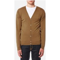 John Smedley Mens Petworth 30 Gauge Merino Cardigan - Camel - XL - Tan
