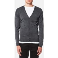 John Smedley Mens Petworth 30 Gauge Merino Cardigan - Charcoal - XL - Grey