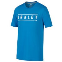 Oakley Mens O-Double Stack T-Shirt - Blue - L - Blue