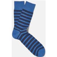 FALKE Men's Even Stripe Basic Socks - Sumac - EU 43-46 - Blue