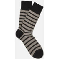 FALKE Men's Even Stripe Basic Socks - Black - EU 43-46 - Black