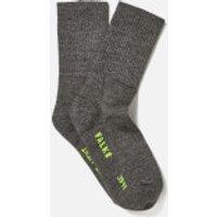 FALKE Men's Walkie Ergo Sport Spirit Socks - Smog - EU 44-45 - Black