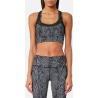 Varley Womens Bandini Crop Top - Dark Moon Snake - S - Grey