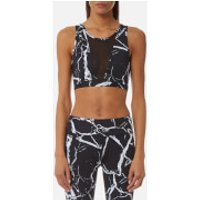 Varley Women's Terry Crop Top - Noir Marble - XS - Black