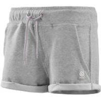 Skins Activewear Women's Wireless Sport Fleece Shorts - Silver/Marle - XS - Silver/Marle
