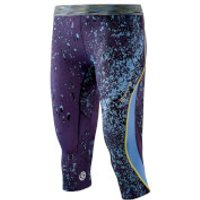 Skins Womens DNAmic 3/4 Tights - Calypso - S - Black/Yellow/Pink