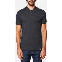 Pretty Green Mens Hartford Short Sleeve Polo Shirt - Dark Grey Marl - XXL - Grey