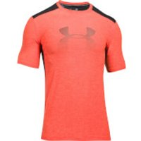 Under Armour Men's Raid Graphic T-Shirt - Black/Orange - M - Black/Orange