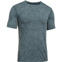 Under Armour Men's Elite Fitted T-Shirt - Blue/Grey - M - Grey/Blue