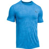 Under Armour Mens Elite Fitted T-Shirt - Blue - L - Blue