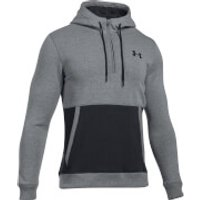 Under Armour Men's Threadborne 1/2 Zip Hoody - Grey/Black - L - Black/Grey