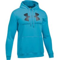 Under Armour Mens Rival Fitted Graphic Hoody - Blue - L - Blue