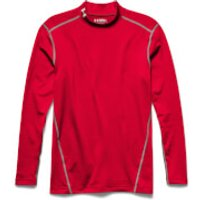 Under Armour Mens ColdGear Armour Compression Long Sleeve Top - Red - M - Red