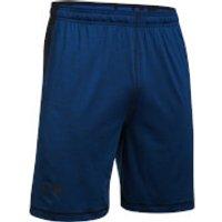 Under Armour Mens Raid Printed 8 Inch Shorts - Blue/Black - M - Black/Blue