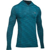 Under Armour Mens Threadborne Seamless Hoody - Blue - L - Blue