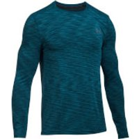 Under Armour Mens Threadborne Seamless Long Sleeve Top - Black/Blue - L - Black/Blue