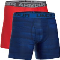 Under Armour Mens 2 Pack Original 6 Inch Boxerjock - Blue/Red - M - Blue/Red